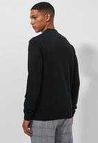 Superbalist - Slim fit high neck knit - black