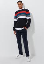 Superbalist - Elasticated waistband corduroy pants - navy
