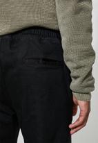Superbalist - Elasticated waistband denim pants - black