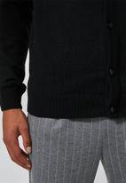 Superbalist - Lightweight button through cardi - black