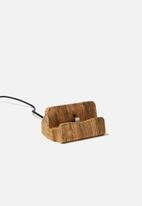 Typo - Phone docking station - wild west woodgrain