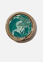 Typo - Metal phone ring - bondi foliage