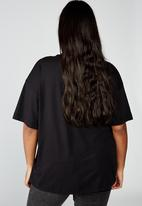 Cotton On - Curve oversized graphic license tee pro metallica money scale - black