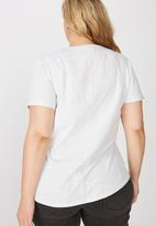 Cotton On - Curve the one crew tee - grey