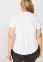 Cotton On - Curve the one crew tee - white