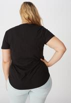 Cotton On - Curve the one scoop tee - black