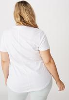 Cotton On - Curve the one scoop tee - white