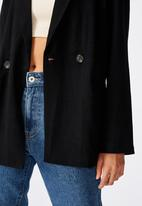 Cotton On - All day textured blazer - black
