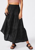 Cotton On - Jasmine maxi skirt rosie spot - black