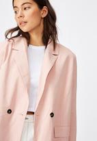 Cotton On - All day textured blazer - pink