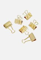 Typo - Bulldog clip 6 pack - gold