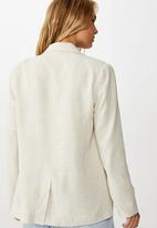 Cotton On - All day textured blazer - neutral