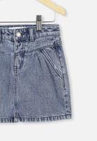 Cotton On - Kirstie denim yoke skirt - retro blue wash