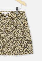 Cotton On - Kirstie denim yoke skirt - sand dune