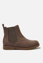 Cotton On - Chelsea gusset boot - brown