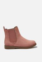 Cotton On - Scallop gusset boot - pink