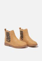 Cotton On - Scallop gusset boot - tan