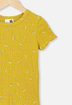 Cotton On - Billie tee - mustard
