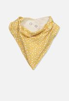 Cotton On - The kerchief bib - vintage honey