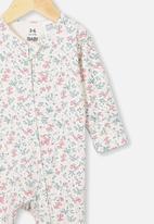 Cotton On - The long sleeve zip romper - dark vanilla maude floral