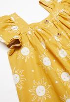 Cotton On - Polly placket dress - yellow