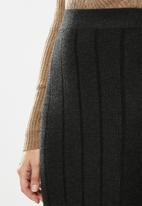 MANGO - Midi knit skirt - grey