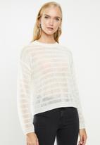MANGO - Open knit jersey - cream