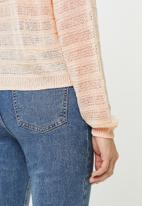 MANGO - Open knit jersey - pink