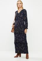 ONLY - Faith long sleeve maxi dress - multi