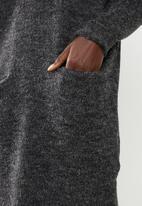 Brave Soul - V-neck front pockets knit dress - grey