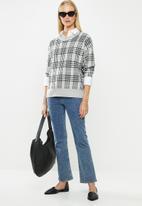 Jacqueline de Yong - Tina long sleeve pullover - light grey