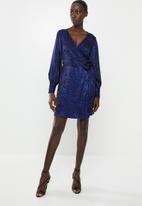 Vero Moda - Dakota wrap dress - black & blue