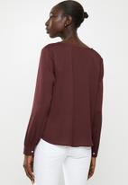 Vero Moda - Karola long sleeve shirt - burgundy