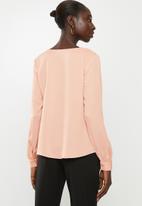 Vero Moda - Karola long sleeve shirt - coral