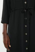 Vero Moda - Catrin calf shirt dress - black