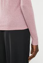 Vero Moda - Isla long sleeve O-neck lurex- pink