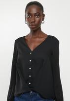 Vero Moda - Karola long sleeve shirt - black