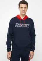 Hurley - Onshore pullover hoodie - navy & red