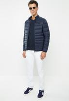 Jack & Jones - Bomb puffer collar jacket - navy