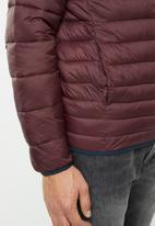 Jack & Jones - Bomb puffer collar jacket - burgundy
