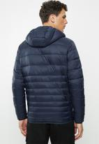 Jack & Jones - Bomb puffer hoodie jacket - navy