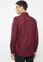 Tommy Hilfiger - Tjm twill tape shirt - burgundy