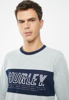 Hurley - Harvey onshore tee - grey & navy