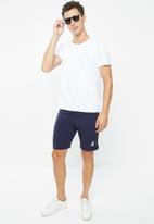 POLO - Mens polo sport panel jogger short - navy