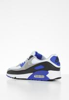 Nike - Air Max 90 - white / particle grey-hyper royal-black