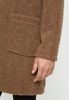 Only & Sons - Base long teddy coat - monk robe