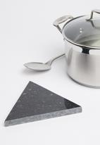 Sixth Floor - Capra triangle marble trivet - black