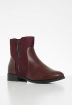 Butterfly Feet - Eloise boot - burgundy
