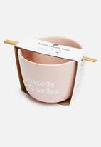Typo - Novelty noodle bowl - pink