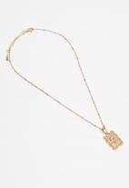 Rubi - Vintage flora trinkets necklace - gold